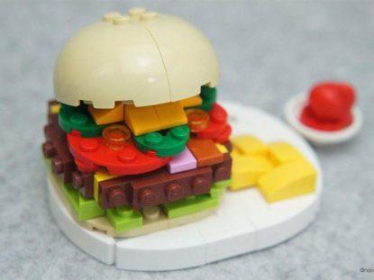 comidas feitas de lego