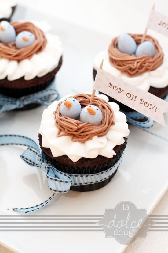 Cupcakes para o chá de bebê