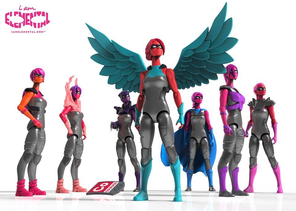 super heroínas de brinquedo