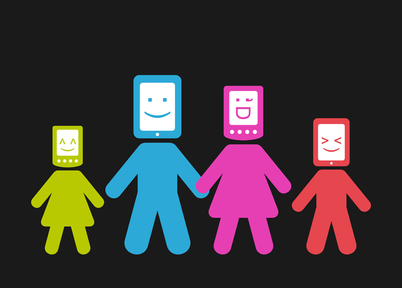 mundo digital com seu filho